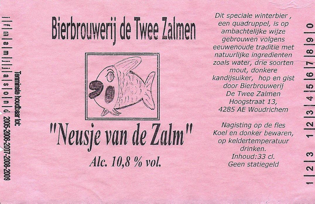 ETIK-009 Bierbrouwerij de Twee Zalmen Neusje van de Zalm