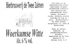 ETIK-008 Bierbrouwerij de Twee Zalmen Woerkumse Witte