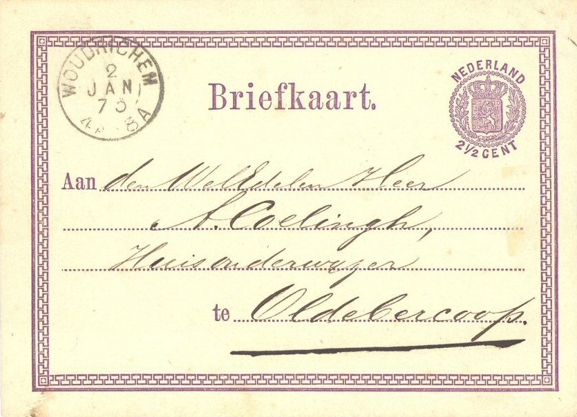 BRIE-008 stempel Woudrichem