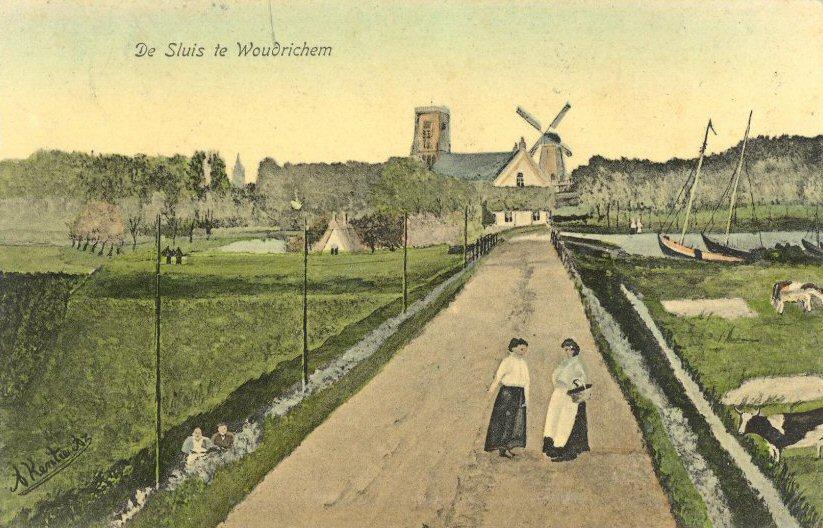 STRAAT -- Postwei (003) De Sluis te Woudrichem