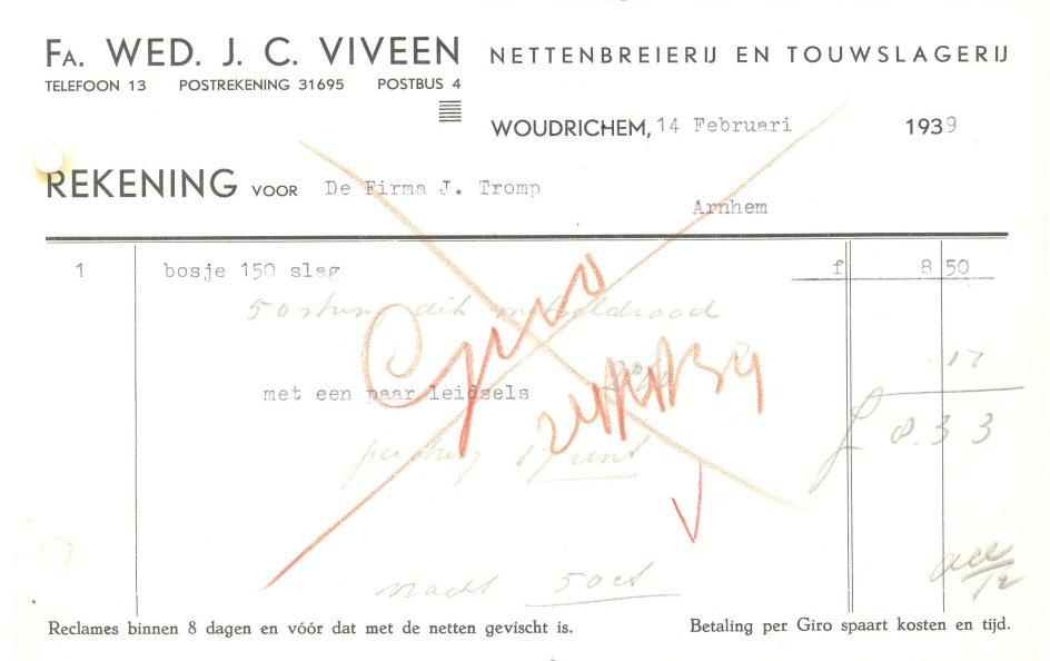 002 REKE-008 Wed J C Viveen 1939