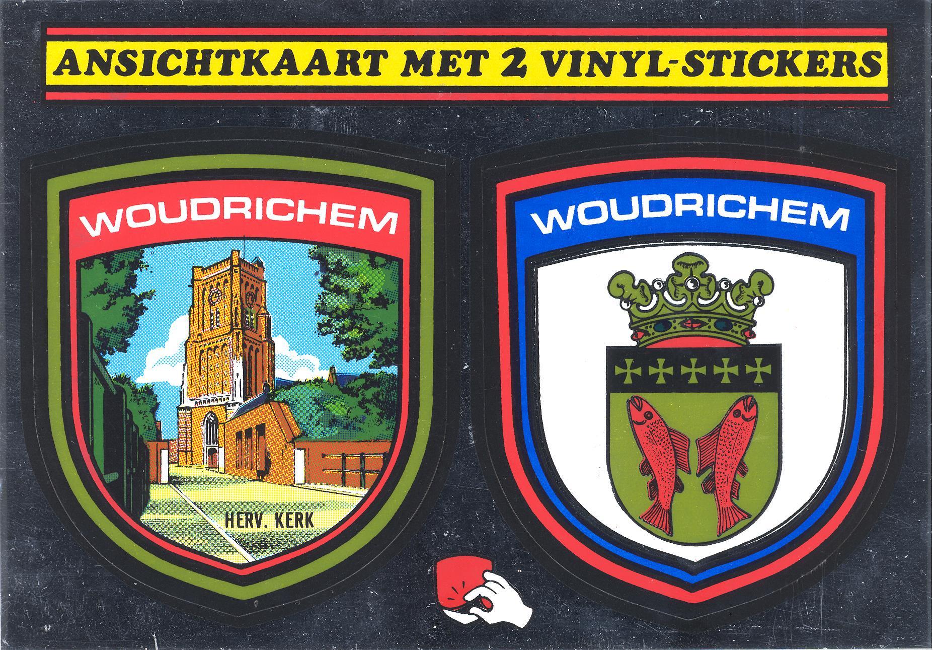 STICK-020 ansichtkaart met 2 vinyl stickers
