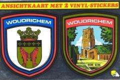01 STICK-010 ansichtkaart met 2 vinyl stickers