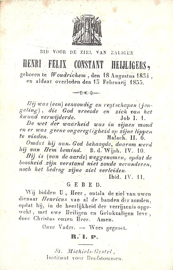 BIDP-005b 1834-Henri Felix Constant Heijligers