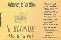 ETIK-011 Bierbrouwerij de Twee Zalmen n BLONDE