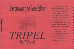 ETIK-012 Bierbrouwerij de Twee Zalmen Tripel