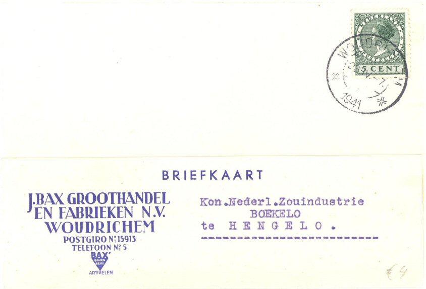BRIE-004 J BAX GROOTHANDEL EN FABRIEKEN NV