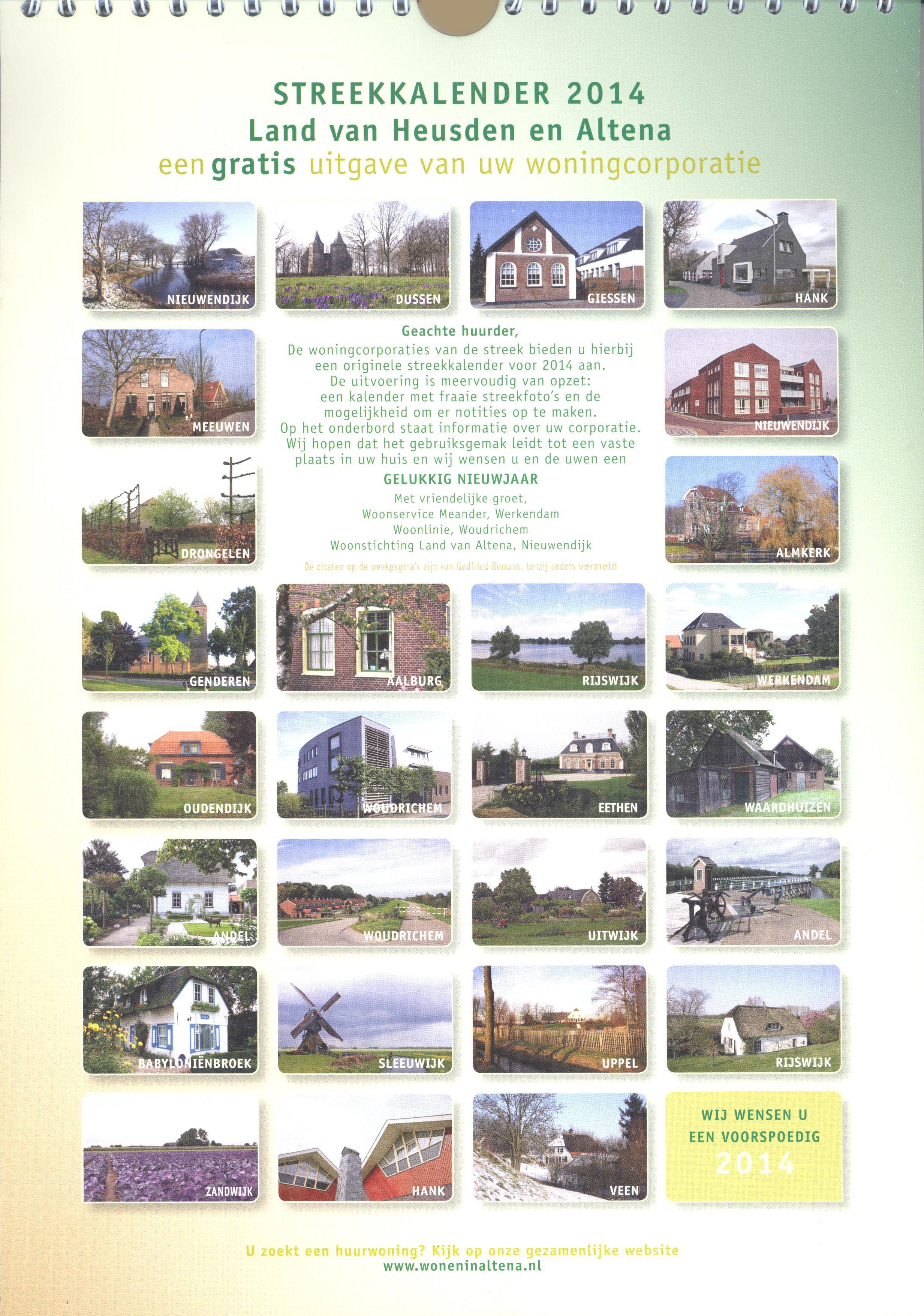 Kalender 005a Streekkalender 2014