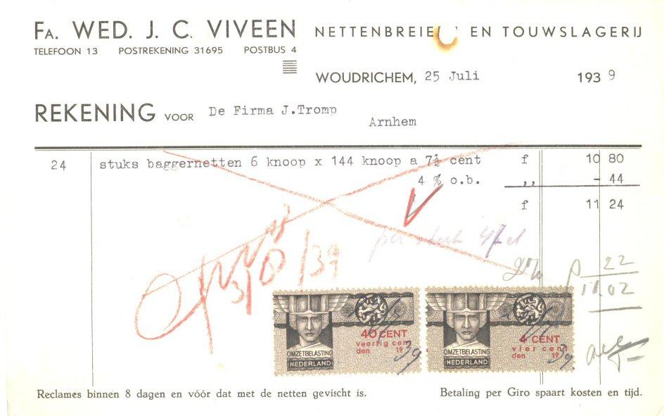 003 REKE-010 Wed J C Viveen 1939