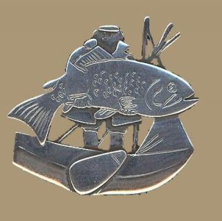 Speldje 007 Zilveren stickpin Oude Vissershaven