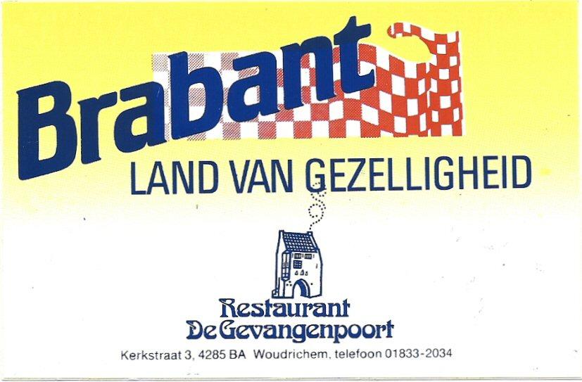 12 STICK-016 Restaurant De Gevangenpoort