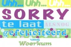 009 WOERKUM - alsnog gefeliciteerd uit